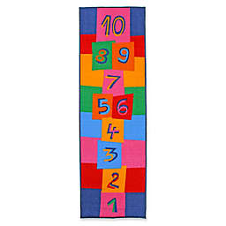 J&M Home Fashions 24-Inch x 76-Inch Hopscotch Kids Play Rug