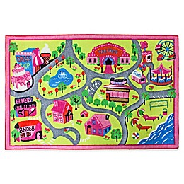 J&M Home Fashions 40-Inch x 60-Inch Play Town Fun Kids Rug