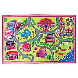 J&M Home Fashions 40-Inch x 60-Inch Play Town Fun Kids Rug