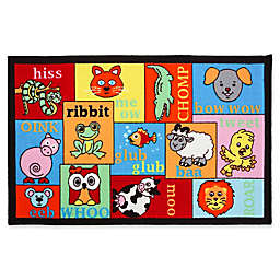 J&M Home Fashions 48-Inch x 31.5-Inch Animal Sounds Kids Play Rug