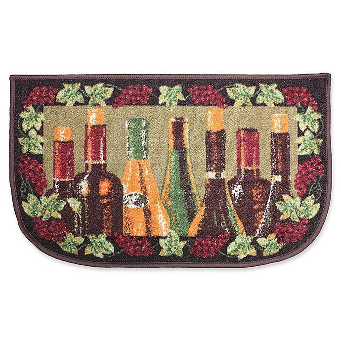J&M Home Fashions Wine Bottle Kitchen Slice Area Rug