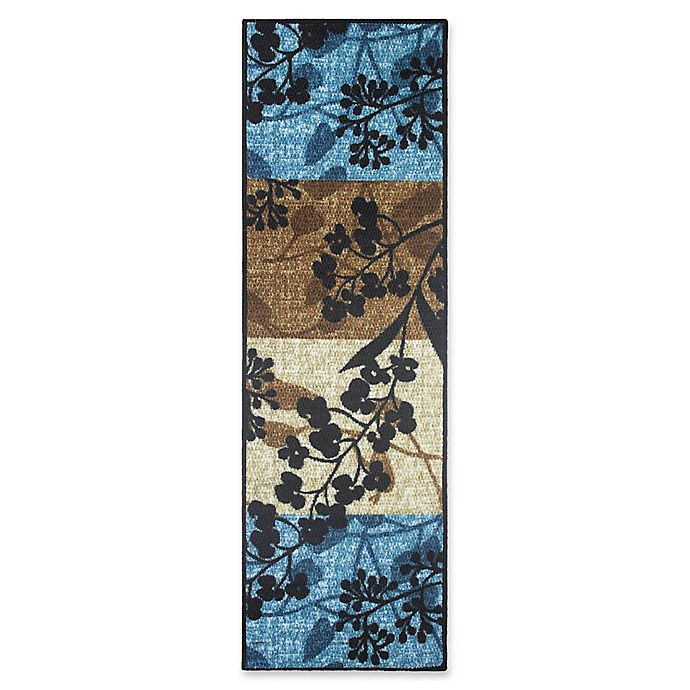 Alternate image 1 for Modern Living 1-Foot 8-Inch x 5-Foot Tulips Textured Accent Rug in Blue/Brown