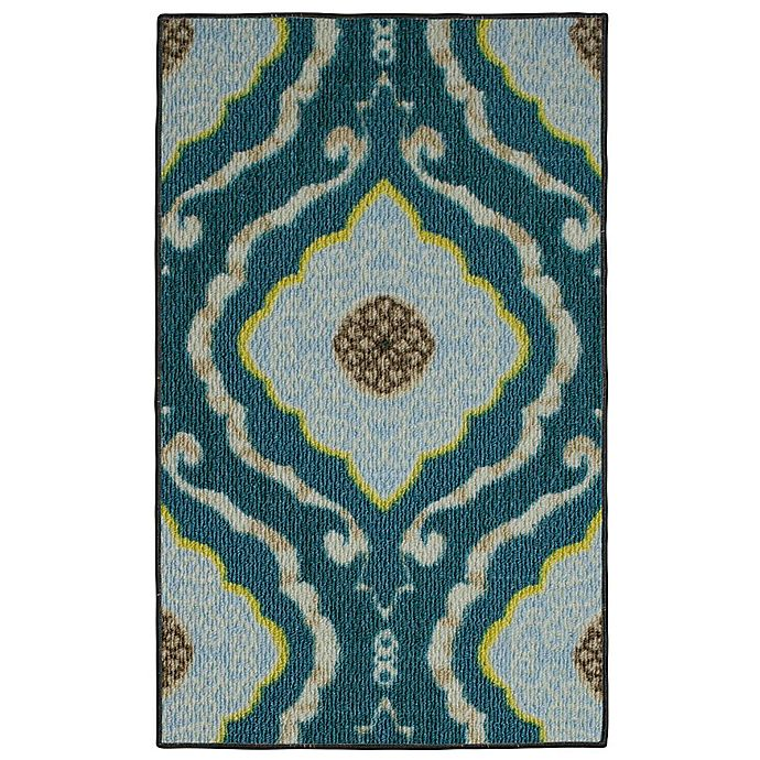 Alternate image 1 for Modern Living 18-Inch x 2-Foot 6-Inch Julianna Textured Accent Rug in Blue/Brown