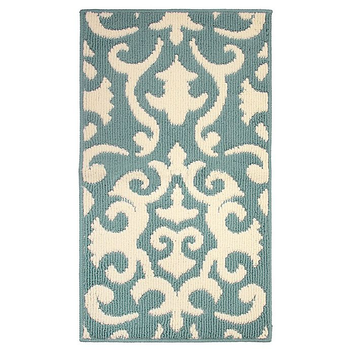 Alternate image 1 for Jean Pierre Phelomena 1-Foot 8-Inch x 2-Foot 10-Inch Berber Rug in Mineral Blue/Ivory