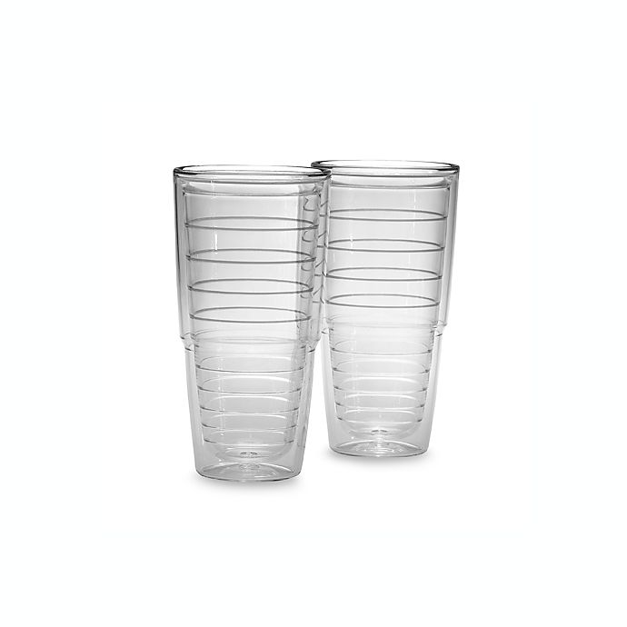 Alternate image 1 for Tervis® Clear 24 oz. Tumblers (Set of 2)