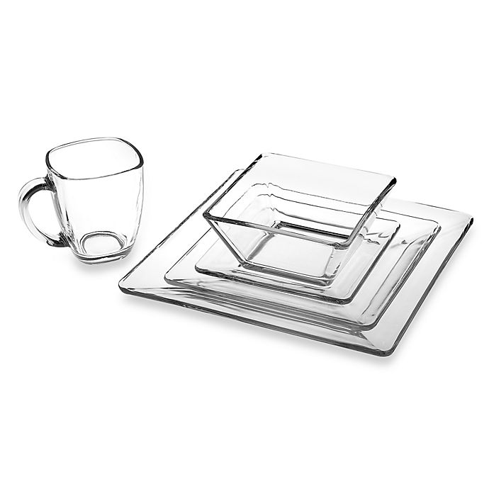 Alternate image 1 for Libbey® Tempo Square Glass Dinnerware Collection