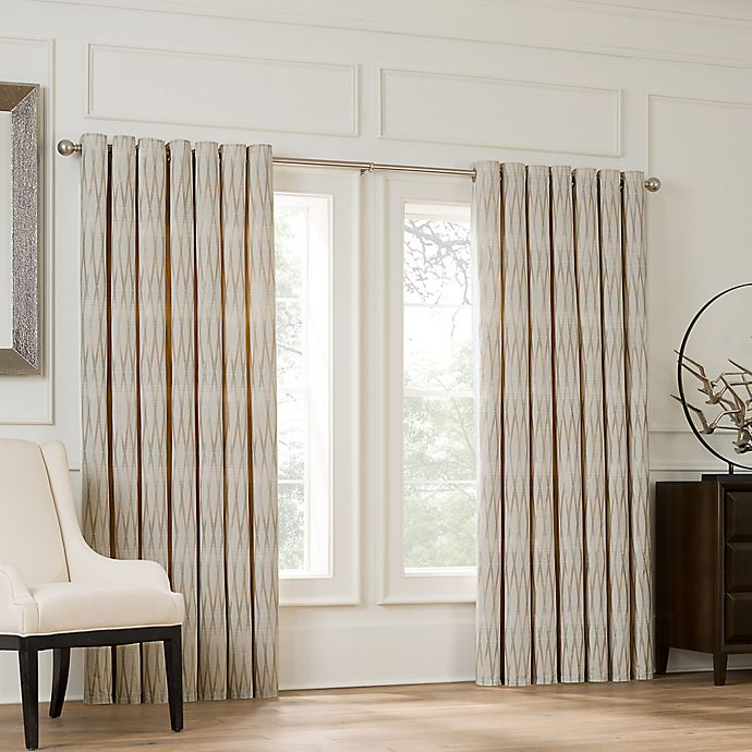 Alternate image 1 for Valeron Lustre Grommet Top Double Wide Window Curtain Panel