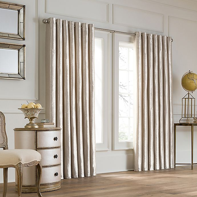Alternate image 1 for Valeron Lustre Grommet Top Double Width Window Curtain Panel