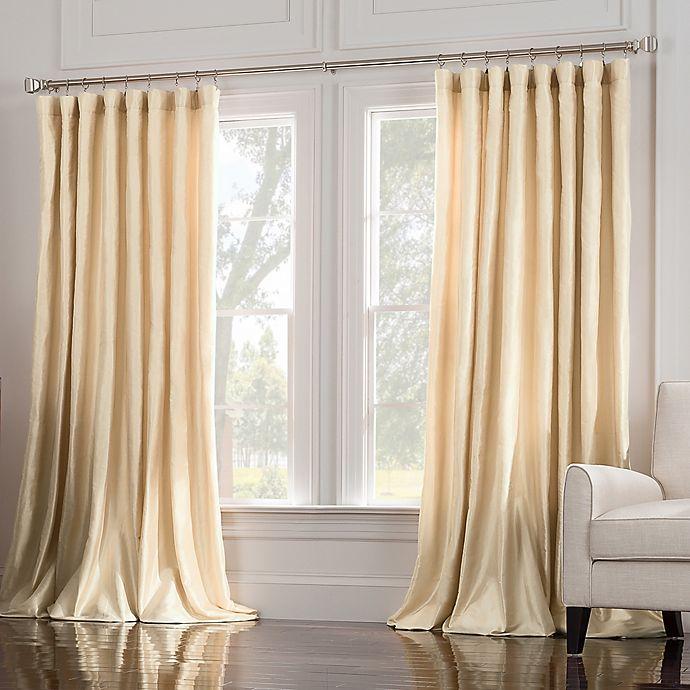 Alternate image 1 for Valeron Estate Silk Double Wide Window Curtain Panel