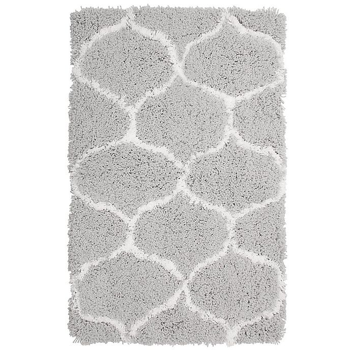Alternate image 1 for Vista Living Alfred Chunky Shag 2-Foot x 3-Foot Accent Rug in White/Grey