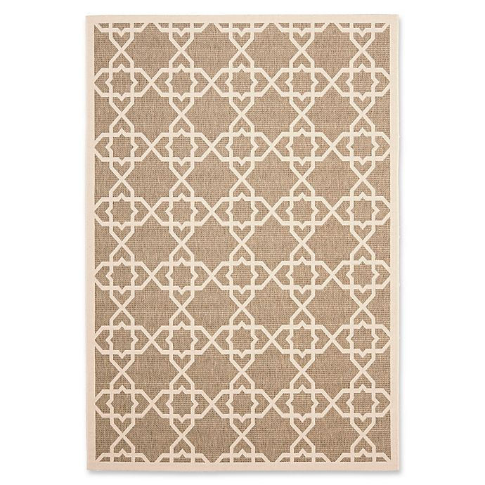 Alternate image 1 for Safavieh Courtyard Track 4-Foot x 5-Foot 7-Inch Indoor/Outdoor Area Rug in