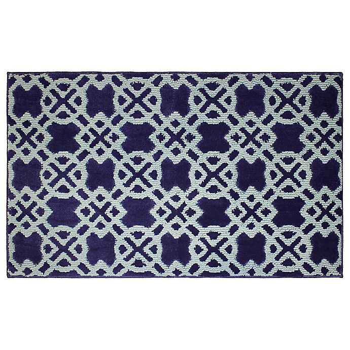 Alternate image 1 for CL Tazo 2-Foot 4-Inch x 4-Foot Accent Rug in Navy/Mineral Blue
