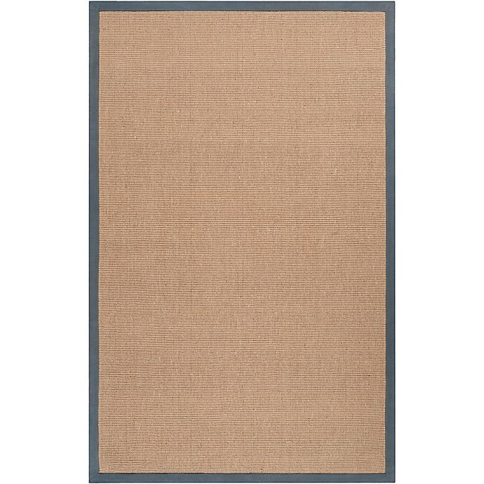 Alternate image 1 for Flores Natural 2-Foot x 3-Foot Accent Rug in Navy