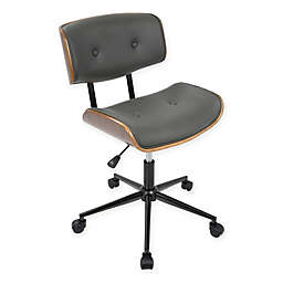 LumiSource® Lombardi Mid-Century Modern Office Chair in Grey