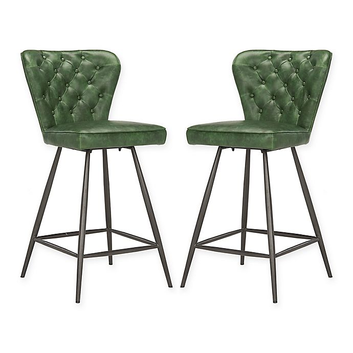 Buy Safavieh Ashby Counter Stool In Green From Bed Bath