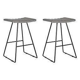 Safavieh Akito A-Line Counter Stool in Grey