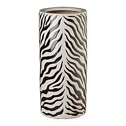 Emissary Zebra Ceramic Umbrella Stand in Black/White