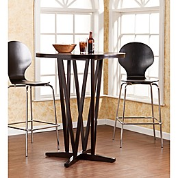Southern Enterprises Devon Round Bar Table in Dark Espresso
