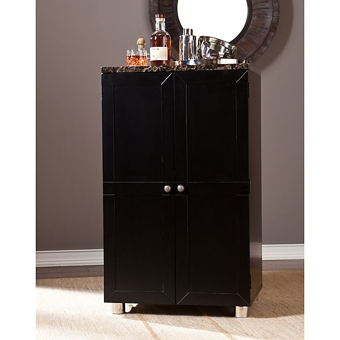Alternate image 1 for Southern Enterprises Cape Town Bar Cabinet in Black