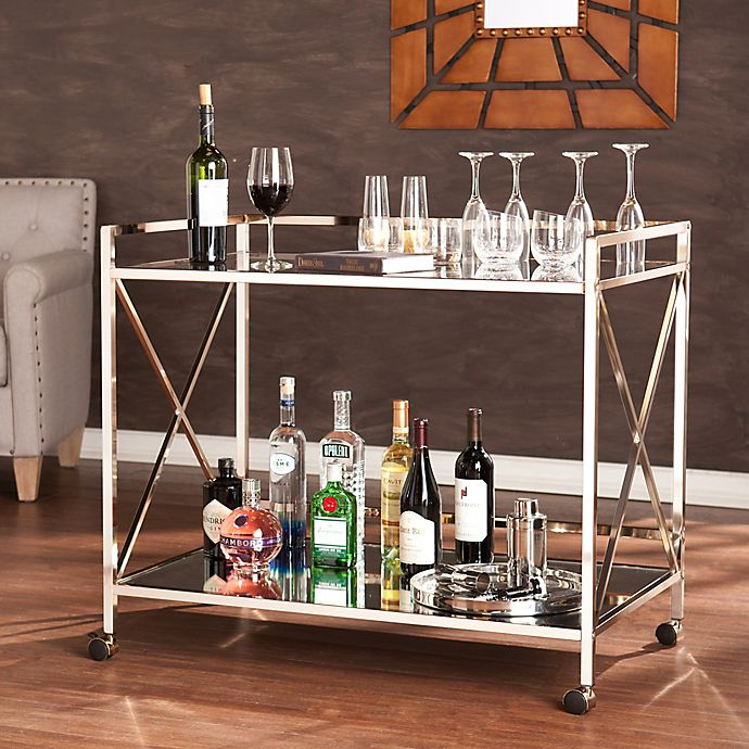 Alternate image 1 for Southern Enterprises Maxton Bar Cart in Gold