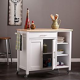 Southern Enterprises Martinville Kitchen Cart in White