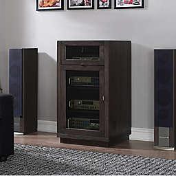 Bell'O Coltrane Record Player Media Cabinet in Espresso