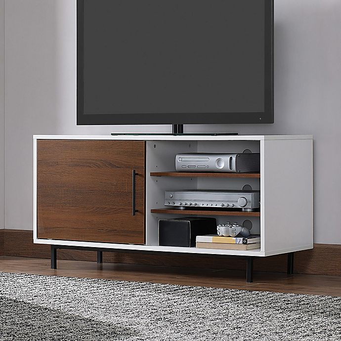 Bell O Wakeman Two Tone Tv Stand In White Bed Bath Beyond