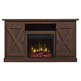 Bell'O® Classic Flame Cottonwood Fireplace TV Stand in Espresso