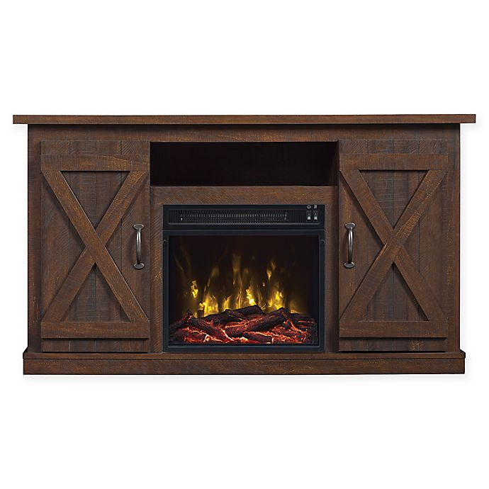 Alternate image 1 for Bell'O® Classic Flame Cottonwood Fireplace TV Stand in Espresso