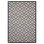 Nourison Aloha 5'3  x 7'5  Machine Woven Indoor/Outdoor Area Rug in Navy