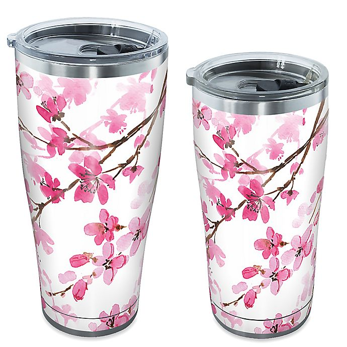 Alternate image 1 for Tervis® Japanese Cherry Blossom Stainless Steel Drinkware with Lid