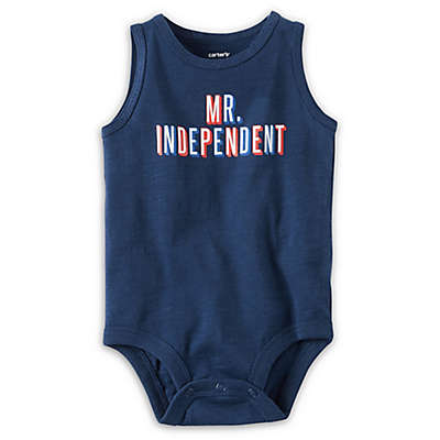 "carter's® ""Mr. Independent"" Bodysuit in Navy"