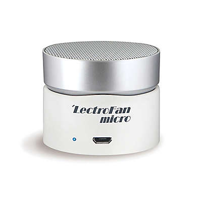 LectroFan Micro Wireless Sound Machine in White/Silver