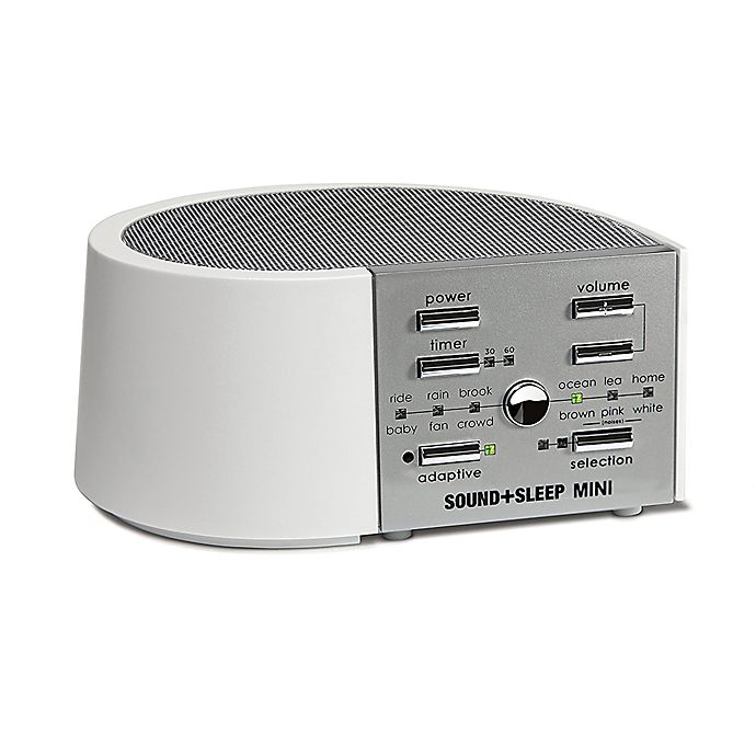 Alternate image 1 for Sound+Sleep Mini Sound Machine in White/Silver