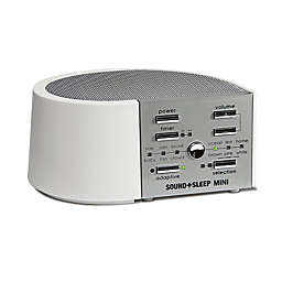 Sound+Sleep Mini Sound Machine in White/Silver