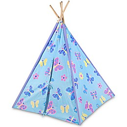 Olive Kids Butterfly Garden Canvas Teepee in Blue