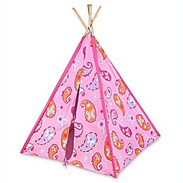 Olive Kids Paisley Canvas Teepee in Pink