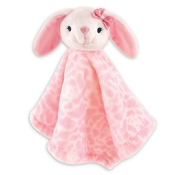 Alternate image 1 for Baby Vision® Hudson Baby® Bunny Security Blanket in White