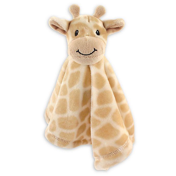 Alternate image 1 for Baby Vision® Hudson Baby® Giraffe Security Blanket in Brown