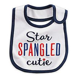 "carter's® ""Star Spangled Cutie"" Bib in White"
