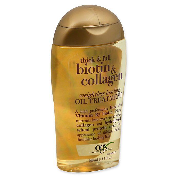 Alternate image 1 for OGX® Thick & Full Biotin & Collagen 3.3 fl. oz. Weightless Healing Oil Treatment
