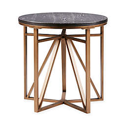 Madison Park Madison Round End Table in Antique Bronze