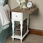Kate and Laurel Sophia End Table in White