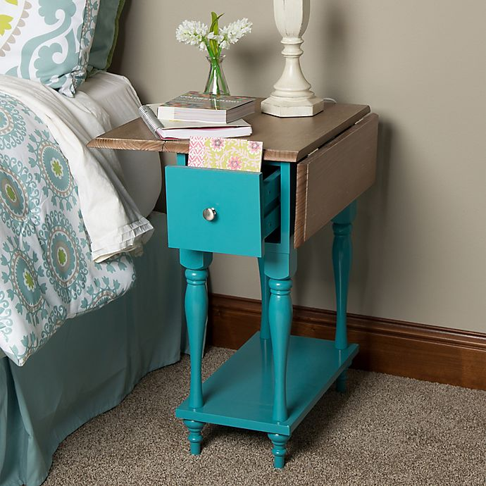 Alternate image 1 for Kate and Laurel Sophia End Table in Teal
