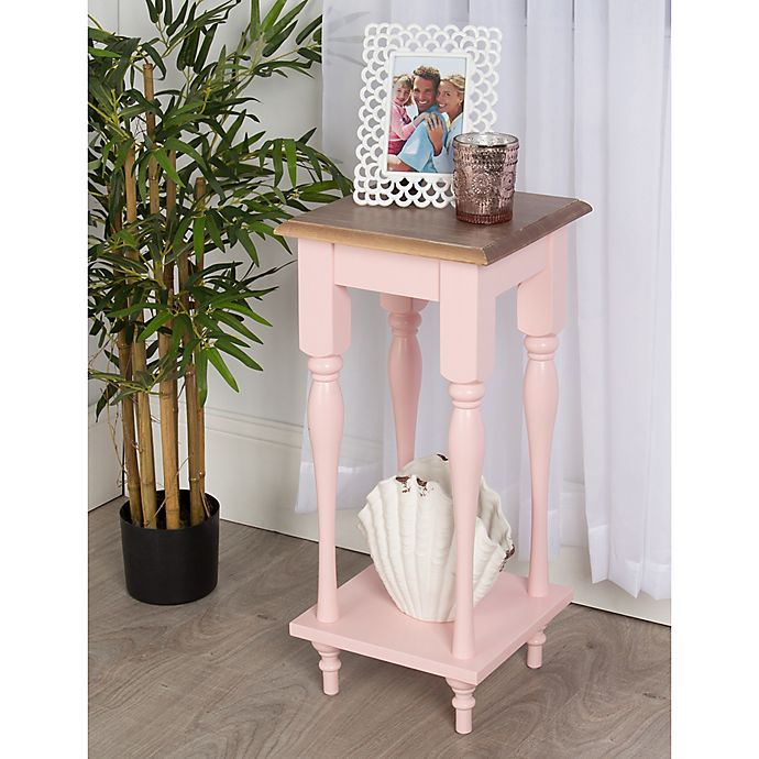 Alternate image 1 for Kate and Laurel Sophia End Table in Pink