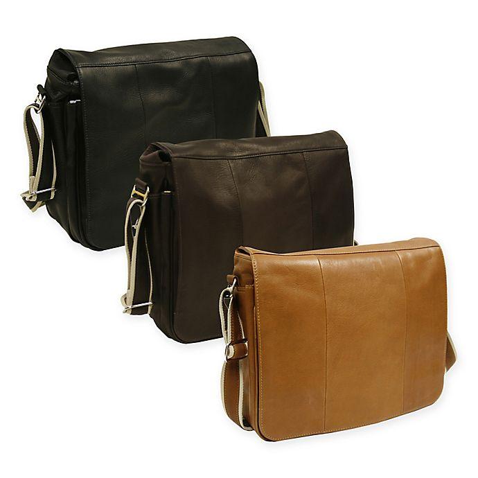 Alternate image 1 for Piel® Leather Expandable 15-Inch Messenger Bag