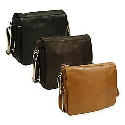 Piel® Leather Expandable 15-Inch Messenger Bag