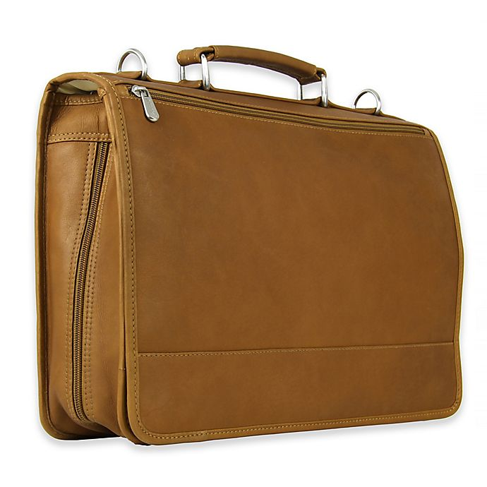 Alternate image 1 for Piel Leather® Classic Two-Section Expandable Laptop Case