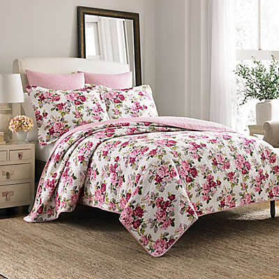 Laura Ashley® Lidia Quilt Set in Pink