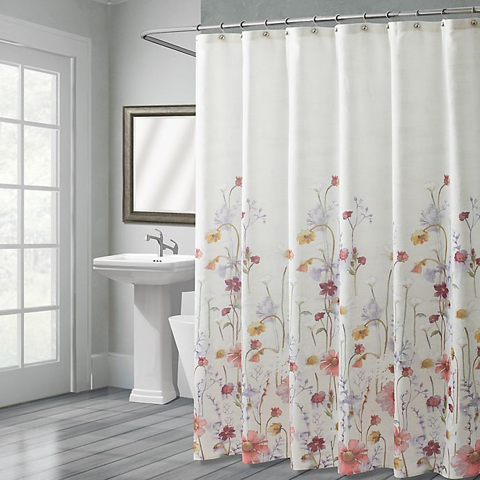 Shower Curtains At Bed Bath And Beyond croscill® pressed flowers shower curtain | bed bath & beyond